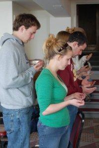 Students Receiving Prayer
